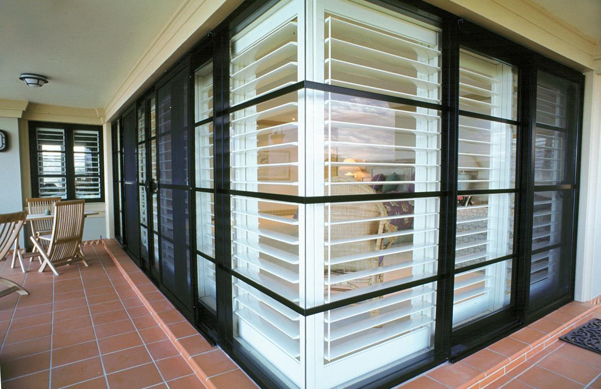 Interior window frames - Open Shutters