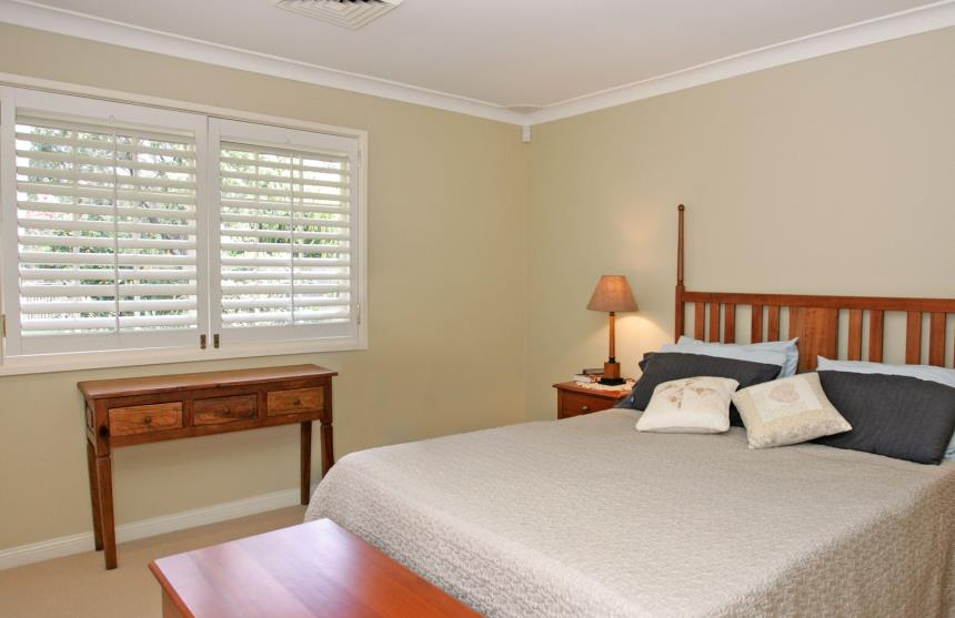 Open Shutters - Bedroom privacy
