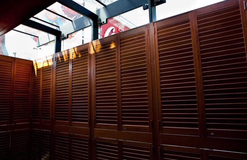 keep the elements out like sun and rain with open shutters