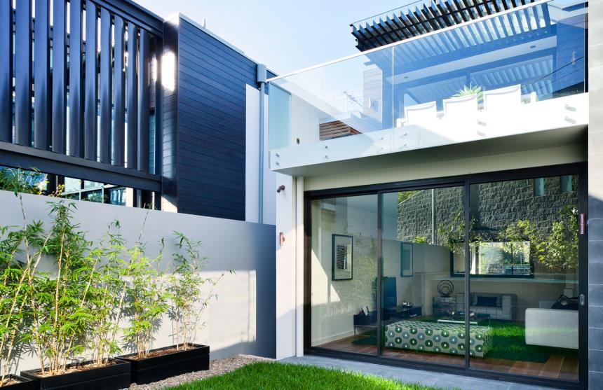 townhouse privacy screens in Queenscliff