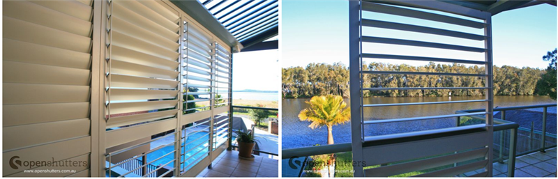 Aluminium balcony shutters