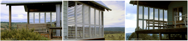 Shutters create outdoor verandah