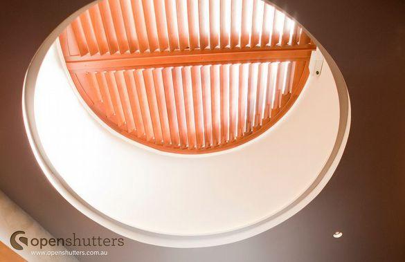 round louvre skylight