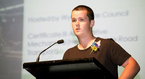 Robert Reynolds winning the 3rd Year apprentice award for 2012