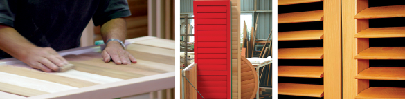 Custom designed and crafted cedar shutters to your specifications